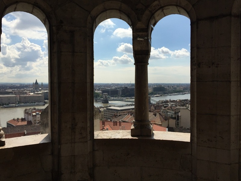 View through arcade of Fishermans bastion