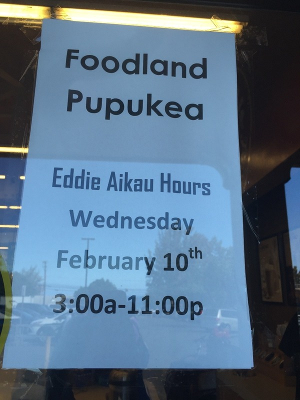 Shops open early for the Eddie