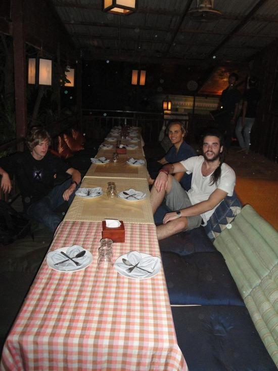 Nath & Jake before everyone arrived at Baan Thai