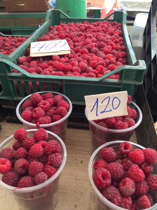 Rasberries $1.50 AUD