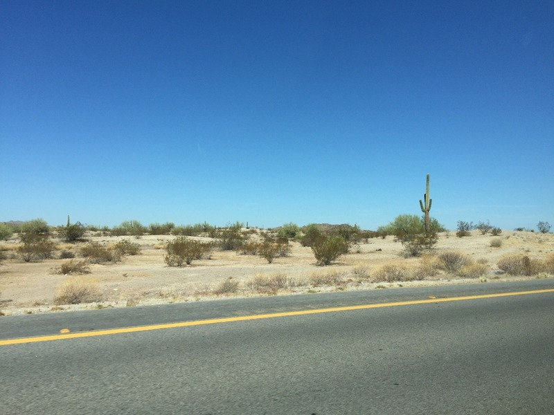 Arizona desert on the way to Phoenix
