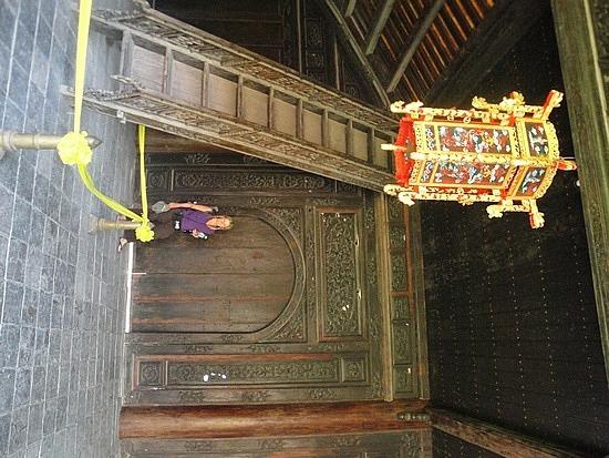 Big wooden doors & staircase