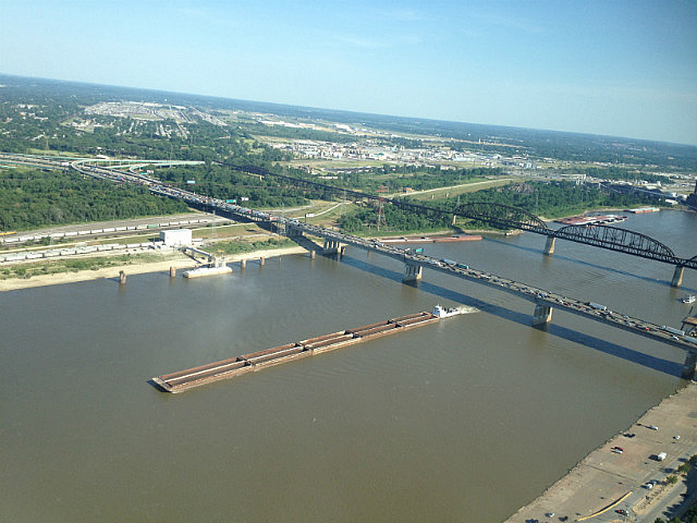 View from the top - Mississippi River