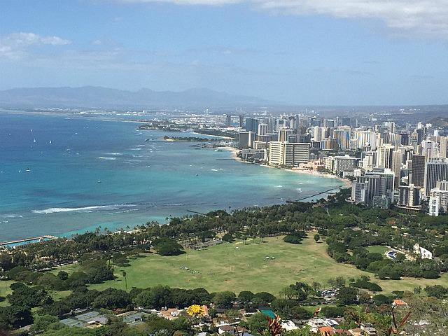 Looking over Waikiki