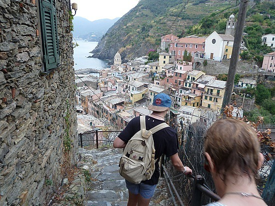 Hundreds of steps down to Venazza ( 700)