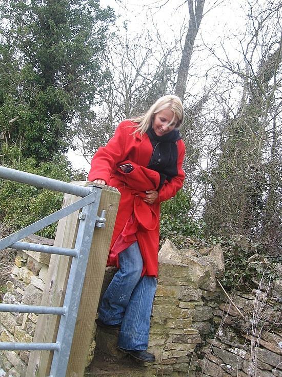 Me climbing a stile