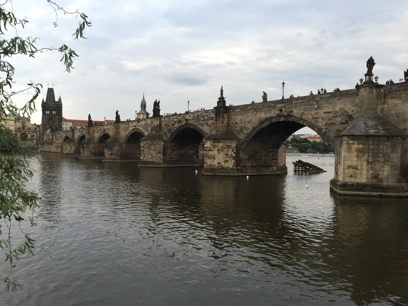 Charles Bridge from the riverbank