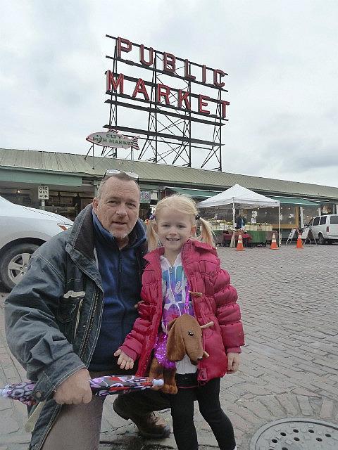 Papa and Alaiya at Pikes Market