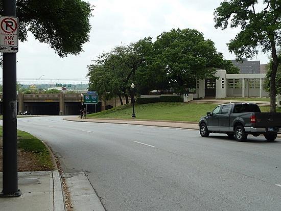 Road where JFK shot