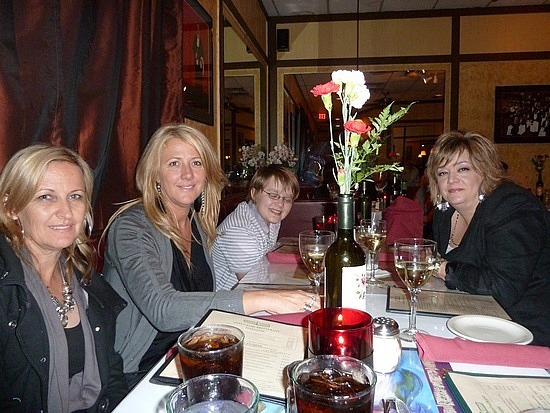 Italian for dinner with Andrews Family
