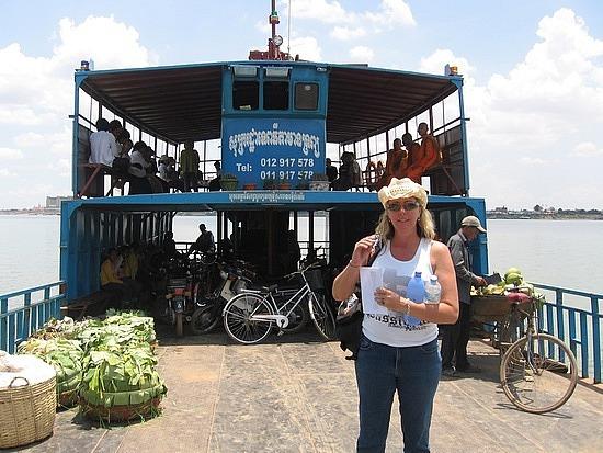 Leigh on the car ferry
