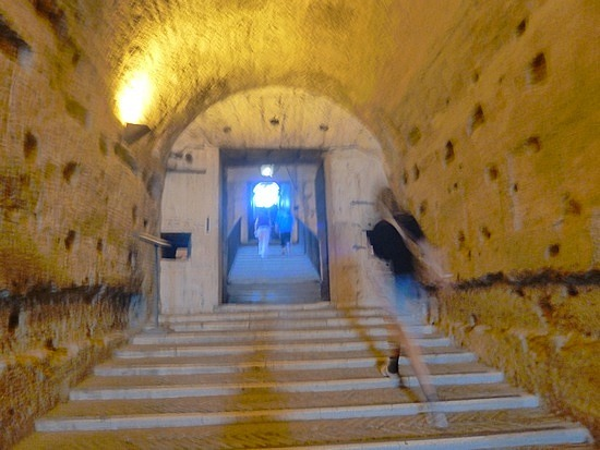Stairs inside the castle