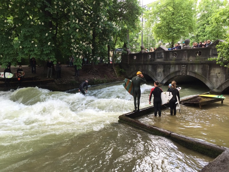 Eisbach Surfers in English Gardens