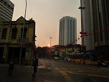 Sunset in Chinatown