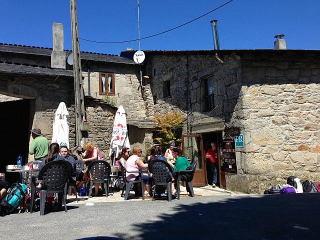 Busy village bar