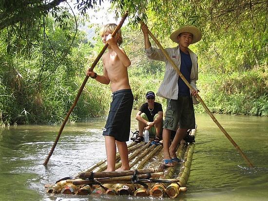 Nath rafting before falling in!!