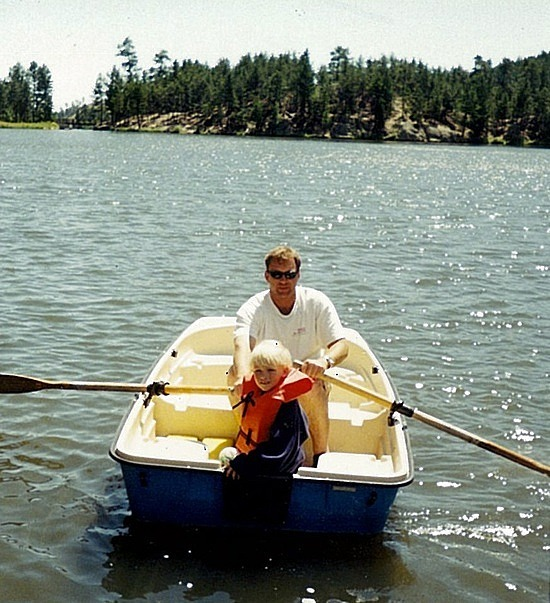 Brad & Nath rowing