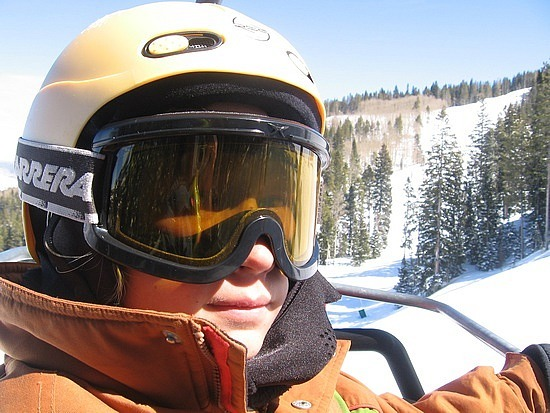 Nath on chairlift