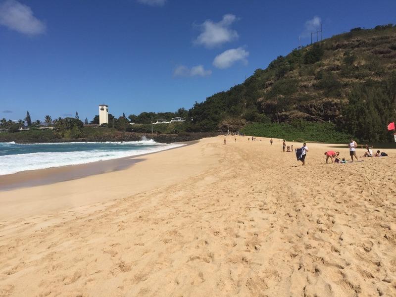 Beach little more deserted