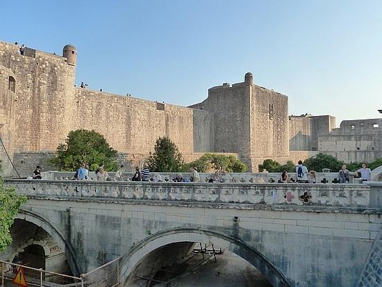 City walls and entry bridge