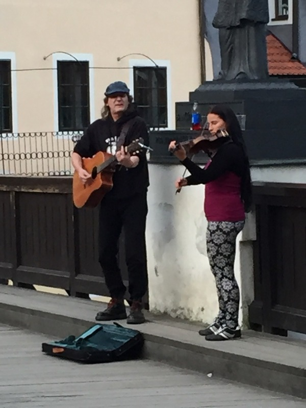 Buskers on the bridge