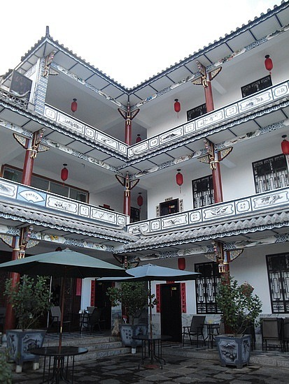 Hostel from the entry courtyard
