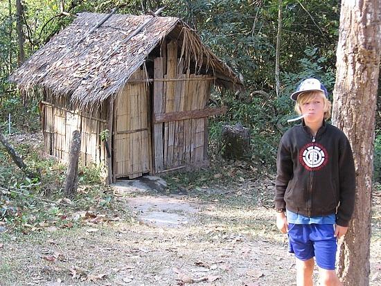 The toilet hut