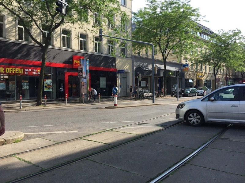 Our hostel and supermarket in Marieshiler strasse