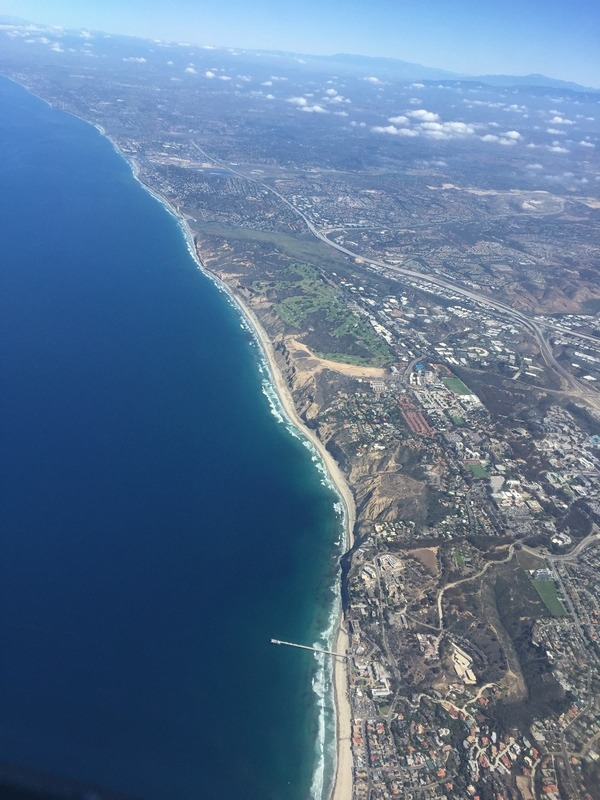 Flying into San Diego