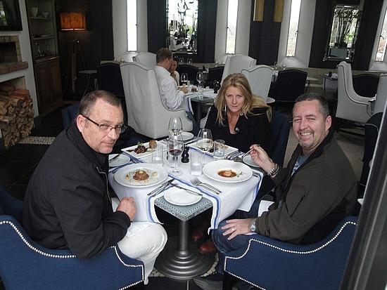 Enjoying fine dining!!
