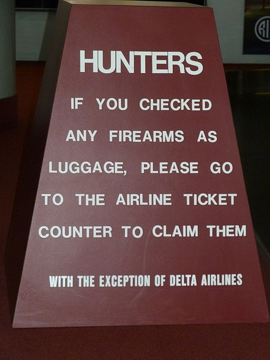 Sign at Augusta airport