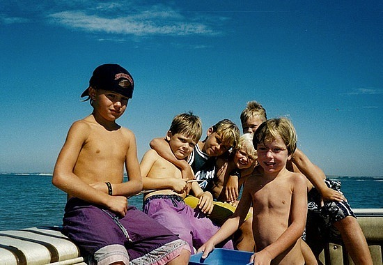 The boys on the boat