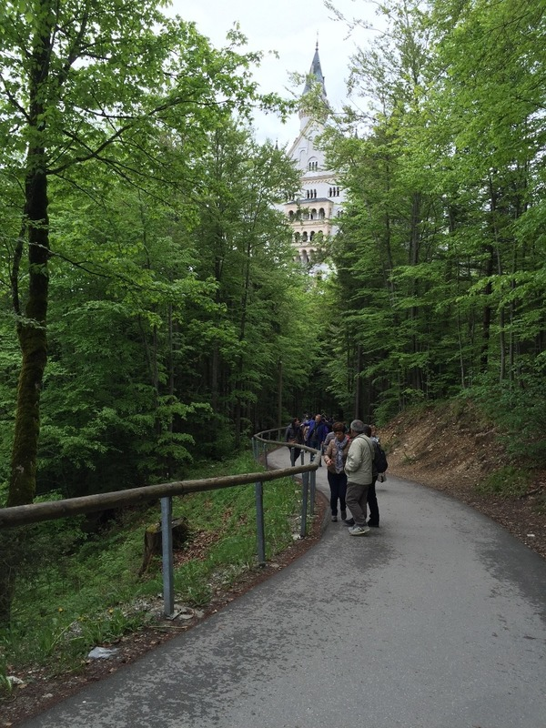 Walking towards Neuschwanstein Castle