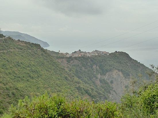 Corniglia perched high