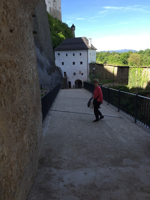 Downhill walk from the fortress
