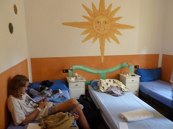 Our new hostel room at Emerald Fields