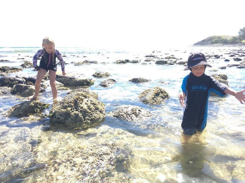 Low tide Crescent rock pools