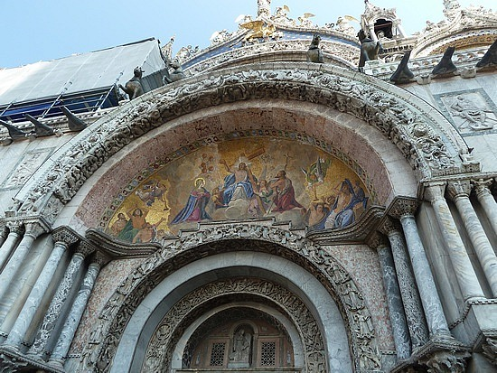 Painting on church