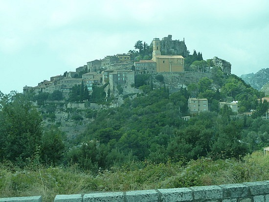 Approaching Eze village on the bus