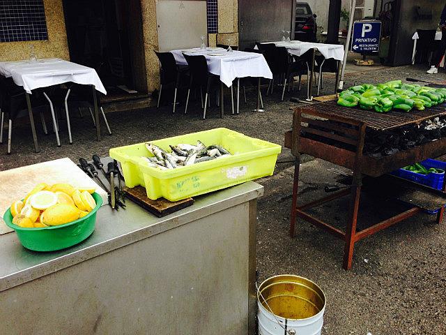 Street fish BBQ stall