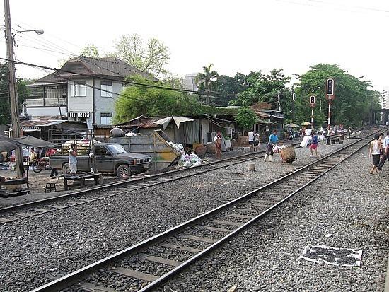 Train out of Bangkok