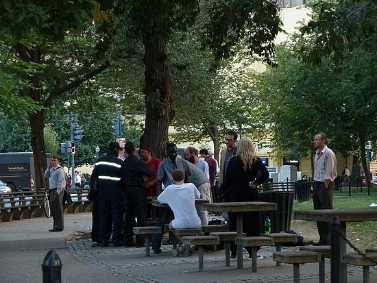 Chess games in the park