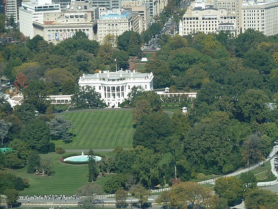 Looking down to the White House