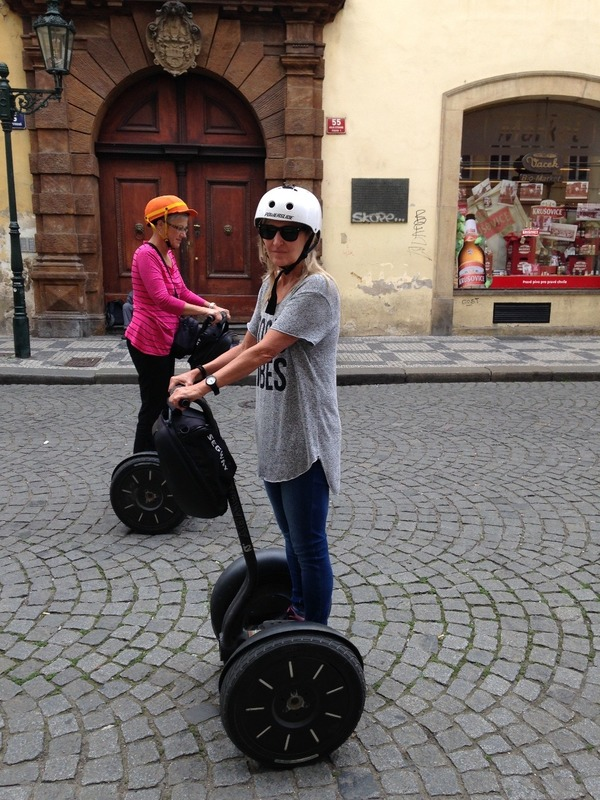 On my segway