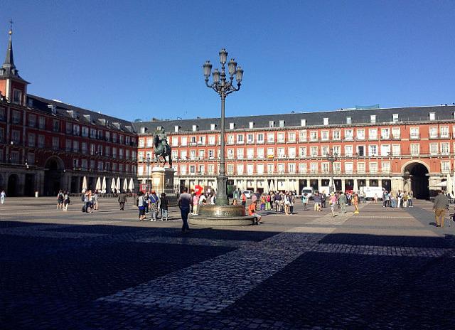 Plaza major where I met Nat & John