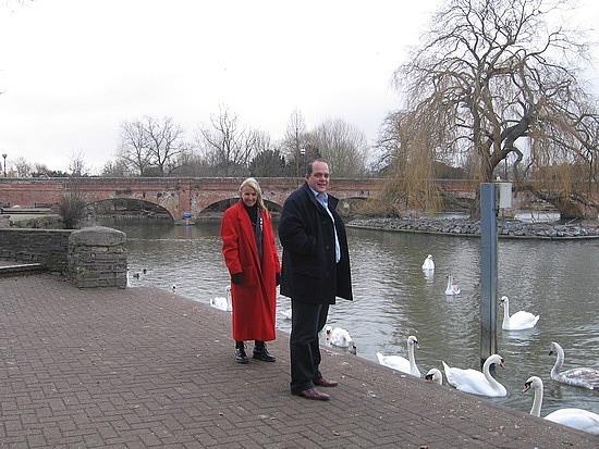 Feeding the swans & ducks