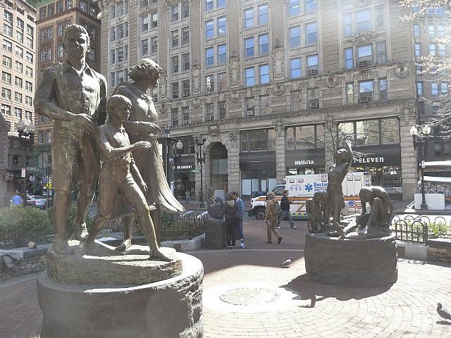 Irish immigrant statues