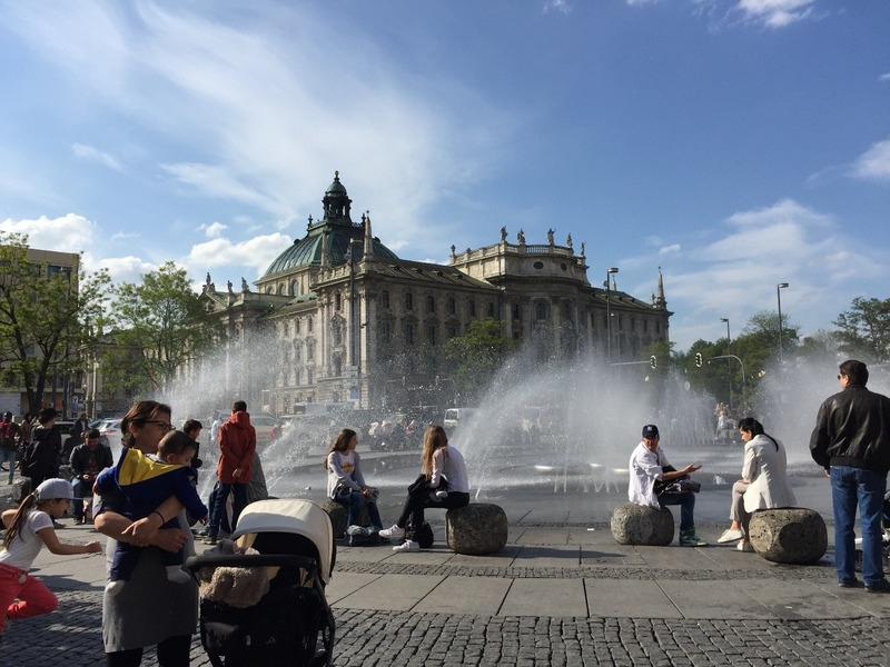 Fountains outside the city gates