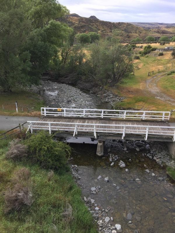 Looking down from rail bridge