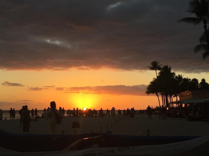 Perfect Waikiki Beach Sunset